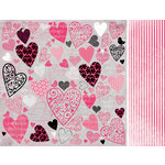 Kaisercraft - Love Notes Collection - Valentine - 12 x 12 Double Sided Paper - Dedicate