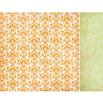 Kaisercraft - Bubblegum Hills Collection - 12 x 12 Double Sided Paper - Orange Pop