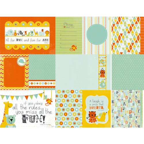 Kaisercraft - Party Animals Collection - 12 x 12 Double Sided Paper - Bop!
