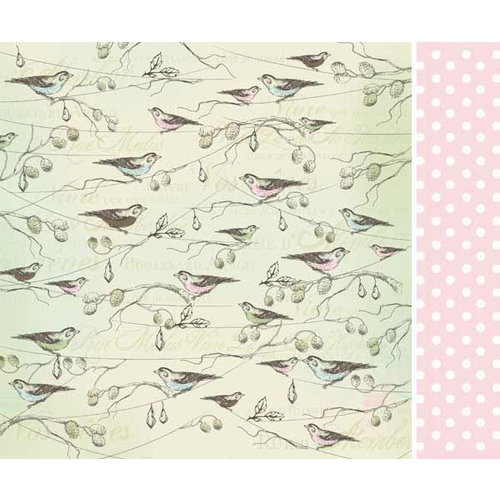 Kaisercraft - Bonjour Collection - 12 x 12 Double Sided Paper - Moriesse