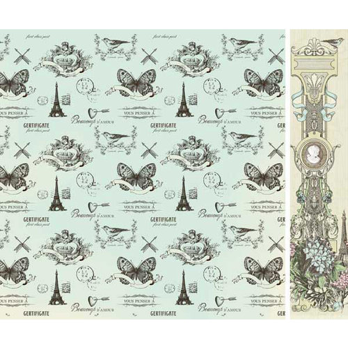 Kaisercraft - Bonjour Collection - 12 x 12 Double Sided Paper - Mairie