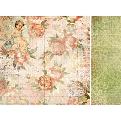 Kaisercraft - Sweet Nothings Collection - 12 x 12 Double Sided Paper - Love Letters