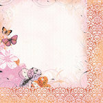 Kaisercraft - Tigerlilly Collection - 12 x 12 Double Sided Paper - Peach