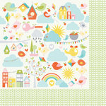 Kaisercraft - Fine and Sunny Collection - 12 x 12 Double Sided Paper - Sunshower