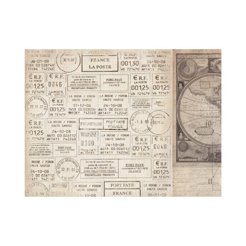 Kaisercraft - Timeless Collection - 12 x 12 Double Sided Paper - Postmarks