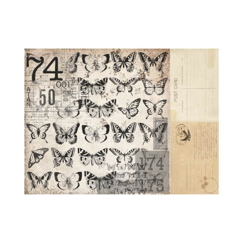 Kaisercraft - Timeless Collection - 12 x 12 Double Sided Paper - Butterflies