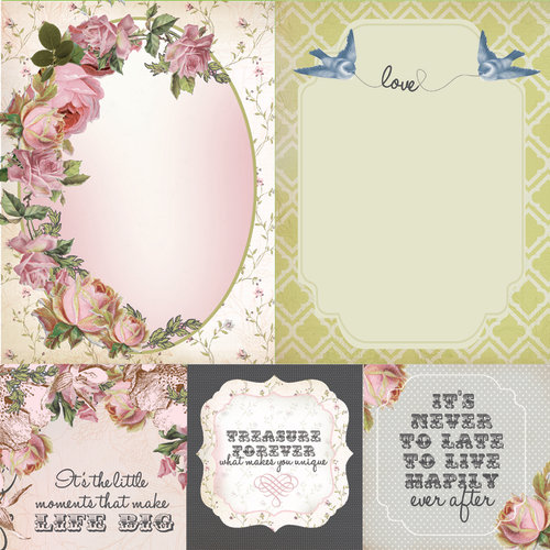 Kaisercraft - The Lakehouse Collection - 12 x 12 Double Sided Paper - Country