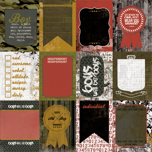 Kaisercraft - Attitude! Collection - 12 x 12 Double Sided Paper - Wicked