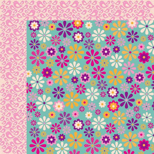 Kaisercraft - Butterfly Kisses Collection - 12 x 12 Double Sided Paper - Daisy Chain