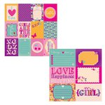 Kaisercraft - Butterfly Kisses Collection - 12 x 12 Double Sided Paper - BFF's