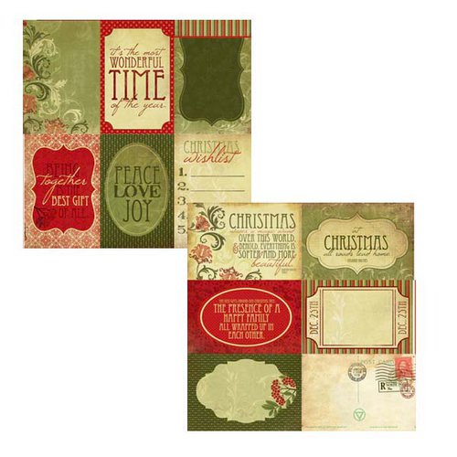 Kaisercraft - Twig and Berry Collection - Christmas - 12 x 12 Double Sided Paper - Gold