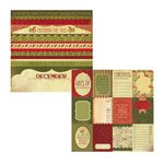 Kaisercraft - Twig and Berry Collection - Christmas - 12 x 12 Double Sided Paper - Bethlehem