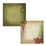 Kaisercraft - Turtle Dove Collection - Christmas - 12 x 12 Double Sided Paper - French Hen