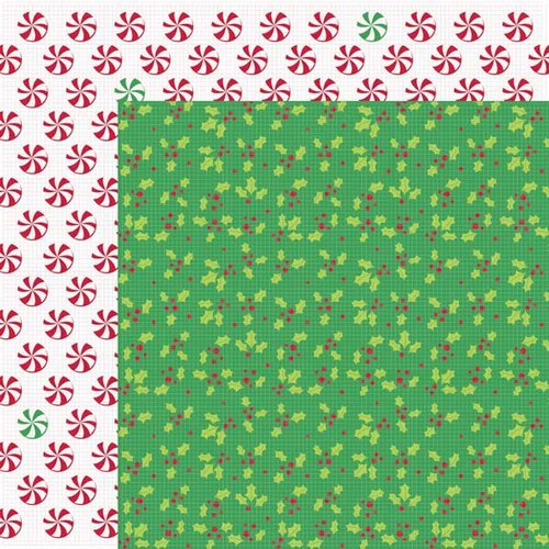 Kaisercraft - Mint Twist Collection - Christmas - 12 x 12 Double Sided Paper - Twist and Twirl