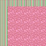 Kaisercraft - Mint Twist Collection - Christmas - 12 x 12 Double Sided Paper - Candy Stripe