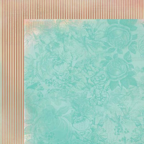 Kaisercraft - Periwinkle Collection - 12 x 12 Double Sided Paper - Shimmer