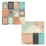 Kaisercraft - Periwinkle Collection - 12 x 12 Double Sided Paper - Rumor