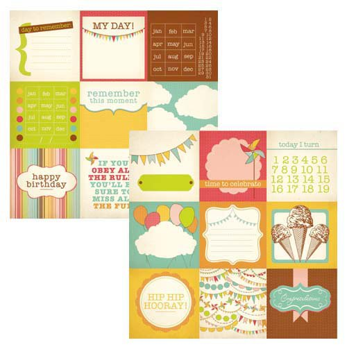 Kaisercraft - Save the Date Collection - 12 x 12 Double Sided Paper - Hip Hip