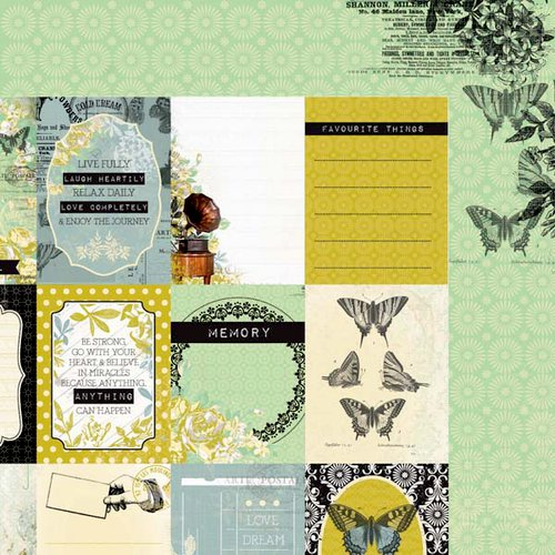 Kaisercraft - Pickled Pear Collection - 12 x 12 Double Sided Paper - Pistachio