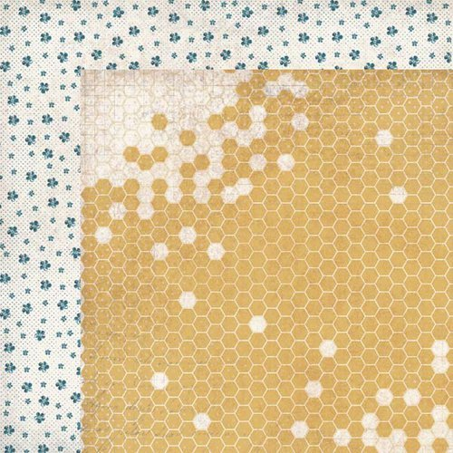 Kaisercraft - Forget-Me-Not Collection - 12 x 12 Double Sided Paper - Honeycomb