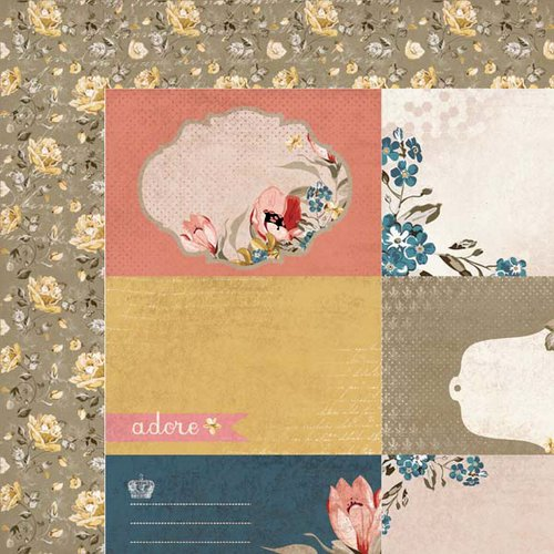 Kaisercraft - Forget-Me-Not Collection - 12 x 12 Double Sided Paper - Azure