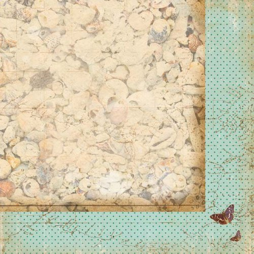 Kaisercraft - Tropicana Collection - 12 x 12 Double Sided Paper - Serenity