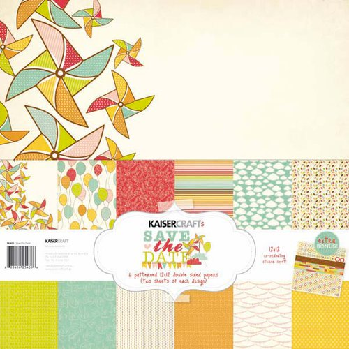 Kaisercraft - Save the Date Collection - 12 x 12 Paper Pack