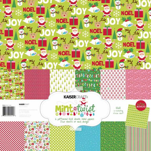 Kaisercraft - Mint Twist Collection - Christmas - 12 x 12 Paper Pack