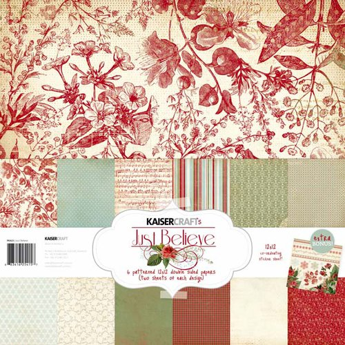 Kaisercraft - Just Believe Collection - Christmas - 12 x 12 Paper Pack