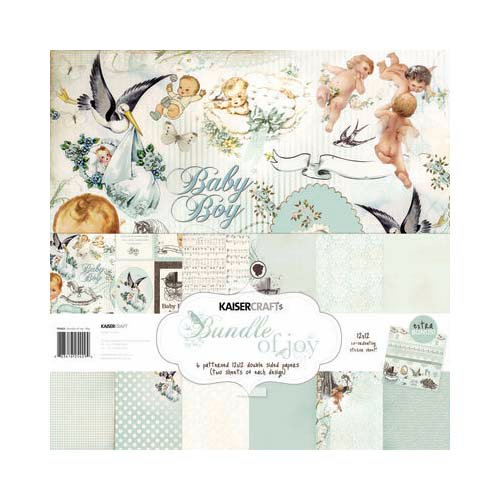 Kaisercraft - Bundle of Joy Collection - 12 x 12 Paper Pack - Boy