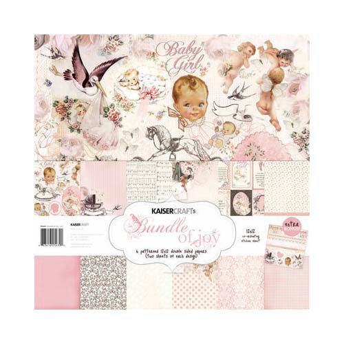 Kaisercraft - Bundle of Joy Collection - 12 x 12 Paper Pack - Girl
