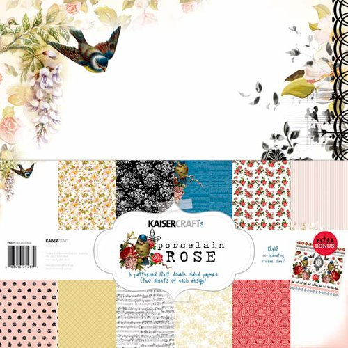 Kaisercraft - Porcelain Rose Collection - 12 x 12 Paper Pack