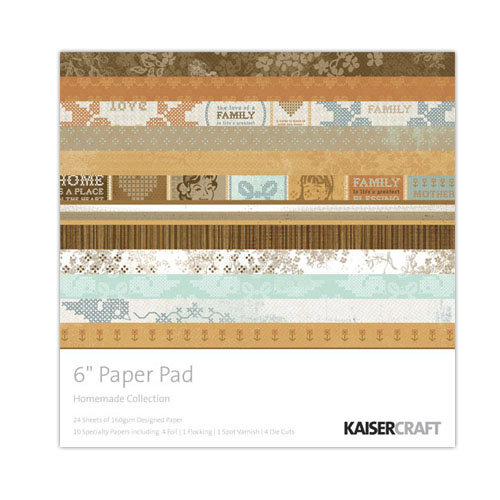 Kaisercraft - Homemade Collection - 6 x 6 Paper Pad