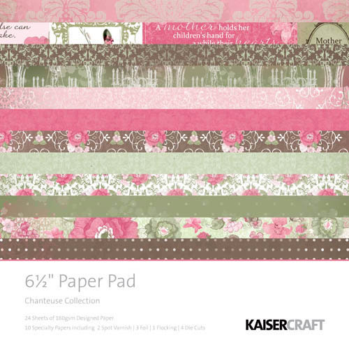 Kaisercraft - Chanteuse Collection - 6.5 x 6.5 Paper Pad