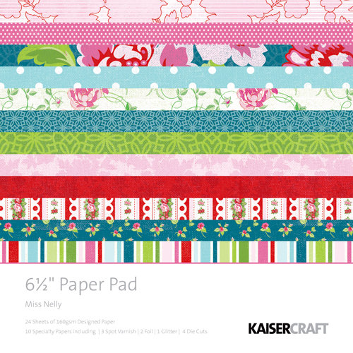 Kaisercraft - Miss Nelly Collection - 6.5 x 6.5 Paper Pad