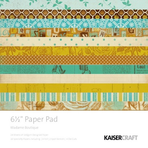 Kaisercraft - Madame Boutique Collection - 6.5 x 6.5 Paper Pad