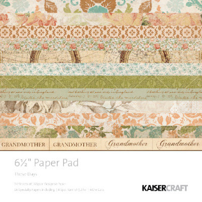 Kaisercraft - These Days Collection - 6.5 x 6.5 Paper Pad