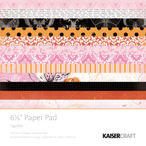 Kaisercraft - Tigerlilly Collection - 6.5 x 6.5 Paper Pad
