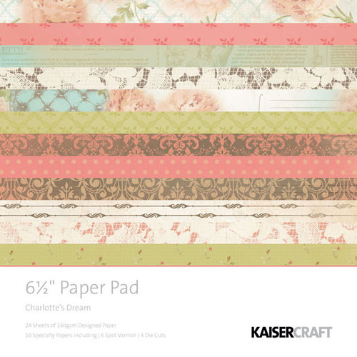 Kaisercraft - Charlottes Dream Collection - 6.5 x 6.5 Paper Pad