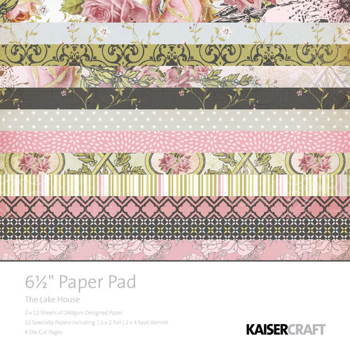 Kaisercraft - The Lakehouse Collection - 6.5 x 6.5 Paper Pad
