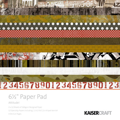 Kaisercraft - Attitude! Collection - 6.5 x 6.5 Paper Pad
