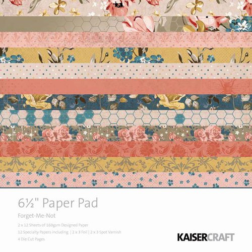 Kaisercraft - Forget-Me-Not Collection - 6.5 x 6.5 Paper Pad