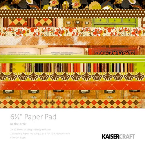 Kaisercraft - In the Attic Collection - 6.5 x 6.5 Paper Pad