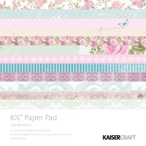 Kaisercraft - True Romance Collection - 6.5 x 6.5 Paper Pad