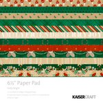 Kaisercraft - Holly Bright Collection - Christmas - 6.5 x 6.5 Paper Pad