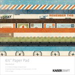 Kaisercraft - Wanderlust Collection - 6.5 x 6.5 Paper Pad