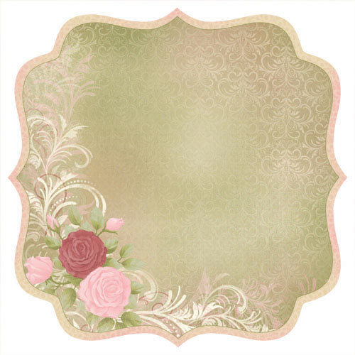 Kaisercraft - English Rose Collection - 12 x 12 Die Cut Paper - Muriel
