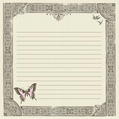 Kaisercraft - Bonjour Collection - 12 x 12 Paper with Foil Accents - Merci