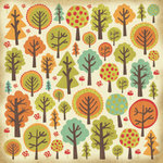 Kaisercraft - Tiny Woods Collection - 12 x 12 Paper with Varnish Accents - Forest