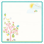 Kaisercraft - Fine and Sunny Collection - 12 x 12 Die Cut Paper - Sky